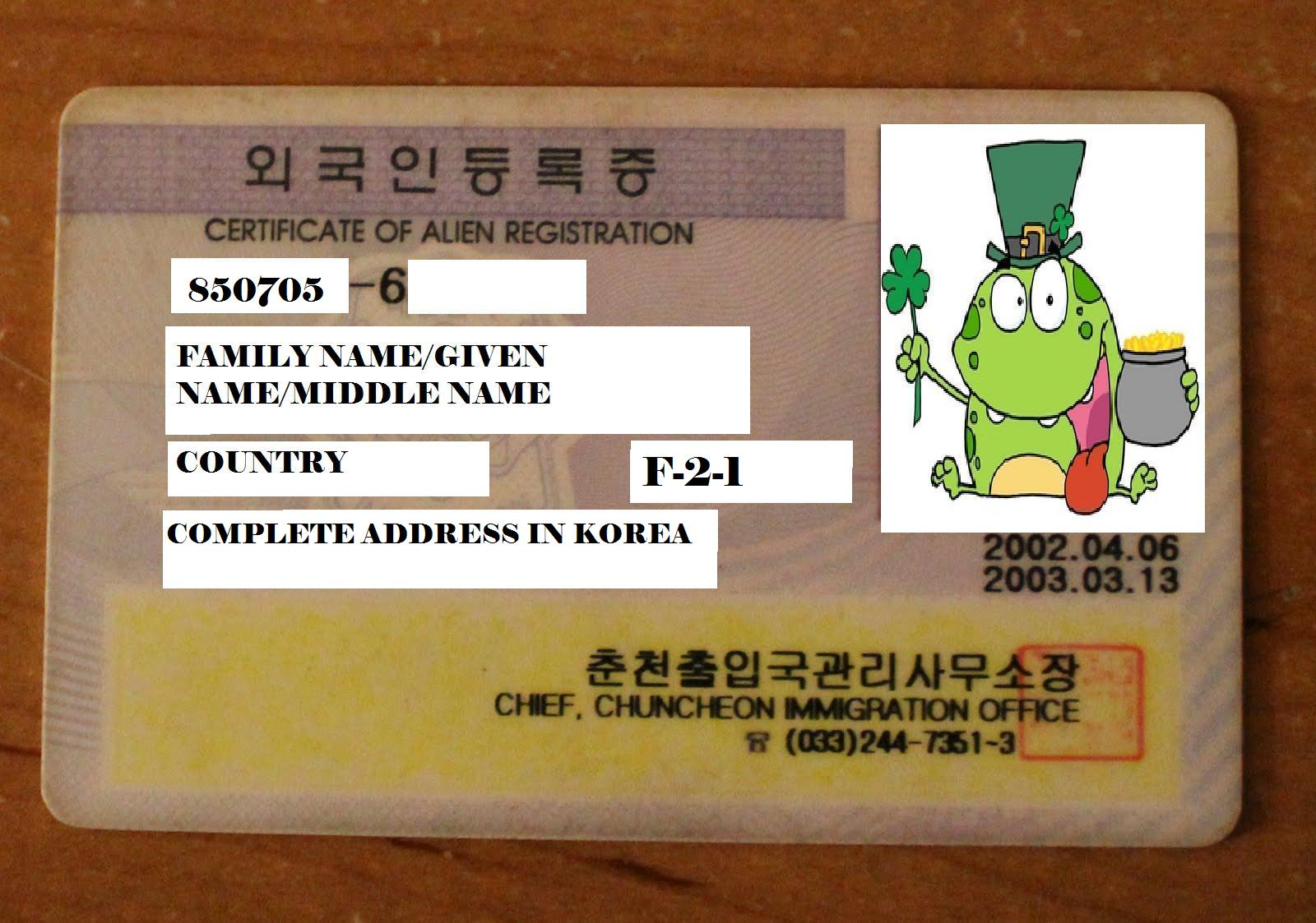 Just How Important Is Your Alien Registration Card Arc From