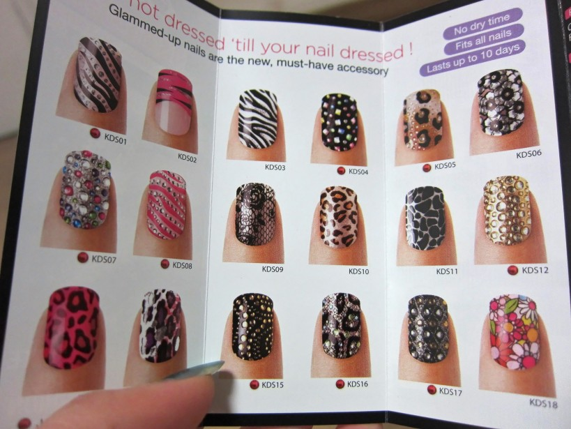 A mini catalogue of other nail wrap designs