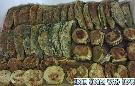Jeon, also known as Korean pancake, is served as an important food for jesasang (제사상) ceremonial table setting for ancestral rites.
