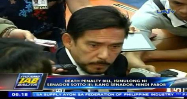 "Senator Tito Sotto III files  Senate Bill 2080, an act imposing death penalty in the Philippines"""